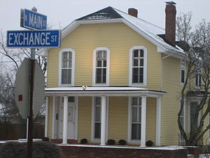 D. B. James House - The front gable of the James House is a roof style known as a Jerkinhead.