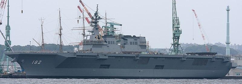 [JMSDF] Marine Japonaise actuelle et future 800px-DDH182_Ise_IHIMU