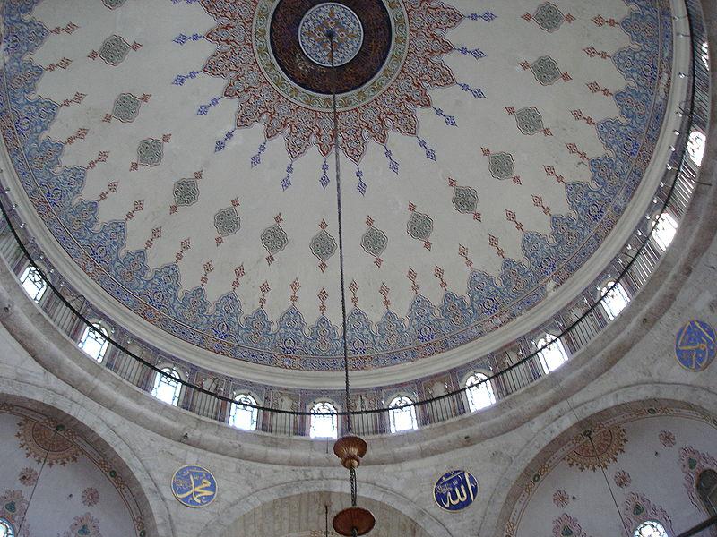 Interior de la mezquita de Eyüp Sultan