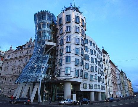 The Dancing House, Prague, Czech Republic.
