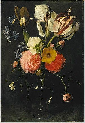Daniel Seghers - A vase of flowers
