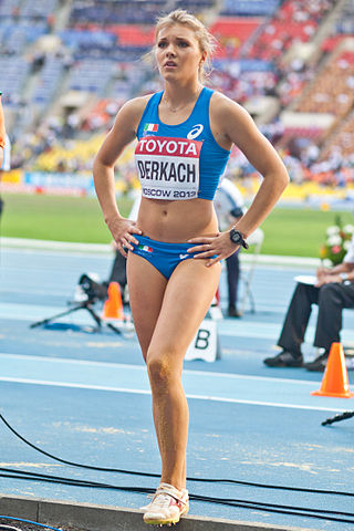 Dariya Derkach (2013 World Championships in Athletics) - 1.jpg