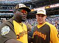 David Ortiz chats with Anthony Rizzo during the T-Mobile -HRDerby. (28291313410).jpg