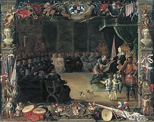 The Presentation of the Captain General's Baton to Antonio de Moncada by the Queen Regent Blanca of Sicily in 1410
