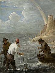 Three Fishermen Casting their Nets