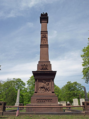 Battle of Ridgefield - Monument to David Wooster in Danbury, Connecticut