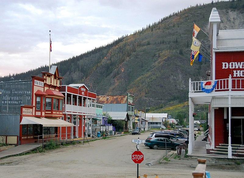 File:Dawson City downtown.jpg