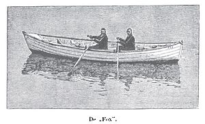 National Police Gazette - Record-setting Fox surf boat.