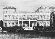 De nieuwe Günthersburg het Rothschildpalais in Frankfurt in 1855