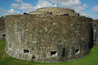 Bastion - One of the semi-circular bastions at Deal Castle, a Device Fort on the south coast of England.