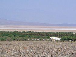 Vista de um o�sis no meio do Vale da Morte, Deserto de Mojave.