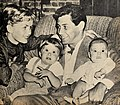 Debbie Reynolds, Carrie Fisher, Eddie Fisher, and Todd Fisher, 1958.jpg