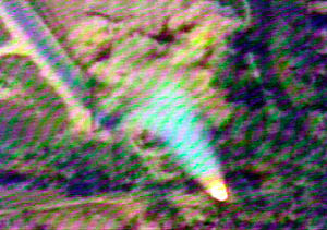 Iraqi no-fly zones - Still photograph from a videotape of an Iraqi surface-to-air missile, believed to be an SA-3, launched at a coalition aircraft in July 2001.