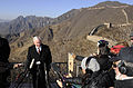 Defense.gov News Photo 110112-F-6655M-006 - Secretary of Defense Robert M. Gates talks with the press on the Great Wall of China in Mutianyu China on Jan. 12 2011. Gates wrapped up a 4-day.jpg
