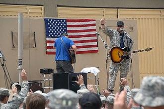 Toby Keith - Keith performs for soldiers in Afghanistan, on April 27, 2009.
