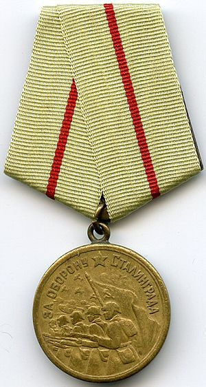 """Medal """"For the Defence of Stalingrad"""" cover"""