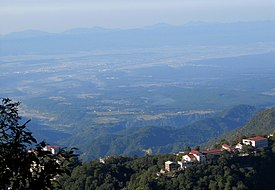 Dehradun valley; as viewed frae Landour