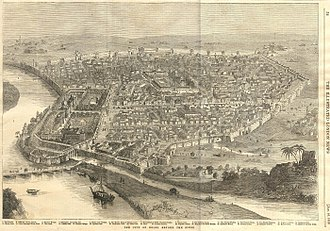 Siege of Delhi - The City of Delhi Before the Siege - The Illustrated London News Jan 16, 1858