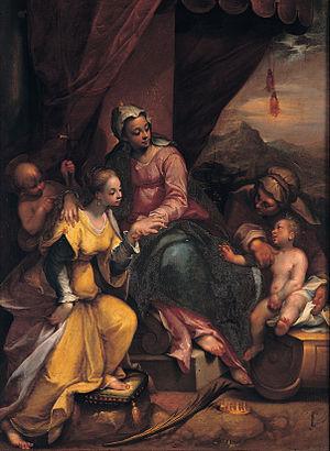Denis Calvaert - Image: Denis Calvaert Mystic marriage of Saint Catherine Google Art Project