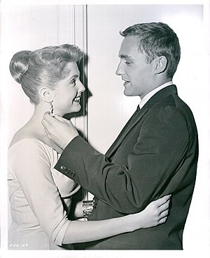 "Conflict (TV series) - Karen Sharpe and Dennis Hopper in the April 30, 1957 episode ""No Man's Road"""
