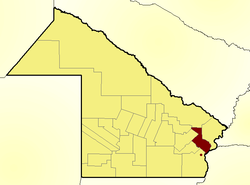 Location of Primero de Mayo Department in Chaco Province