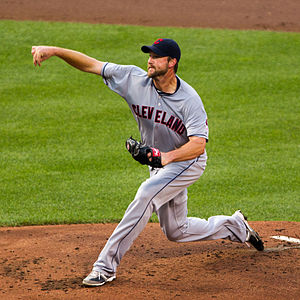 Derek Lowe - Lowe during his stint with the Cleveland Indians in 2012
