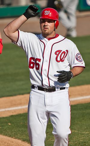 Derek Norris - Norris with the Washington Nationals in 2011 spring training