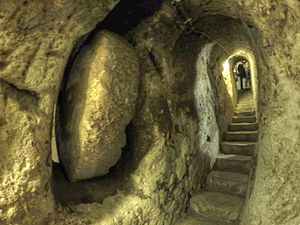 Derinkuyu underground city - A passage in the Underground City