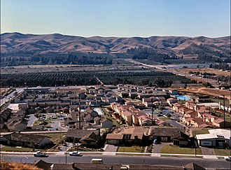 Yorba Linda, California - This housing development shown near Esperanza Rd and Fairlynn Blvd. in 1966 shows how Yorba Linda dramatically grew in the 1960s. The city's population increased from 1,198 people in 1960 to 11,856 just a decade later.