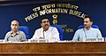 Dharmendra Pradhan addressing a press conference on four years achievements of the Ministry of Petroleum & Natural Gas and Ministry of Skill Development & Entrepreneurship, in New Delhi (1).JPG