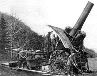 Supergun - German Big Bertha howitzer.
