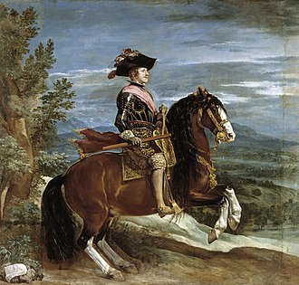 Hall of Realms - Equestrian Portrait of Philip IV, by Velázquez.
