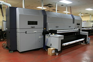 Self-publishing - This modern printing press takes digital files and prints books.