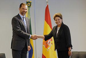 Felipe VI of Spain - Felipe and President Dilma Rousseff of Brazil, 2010