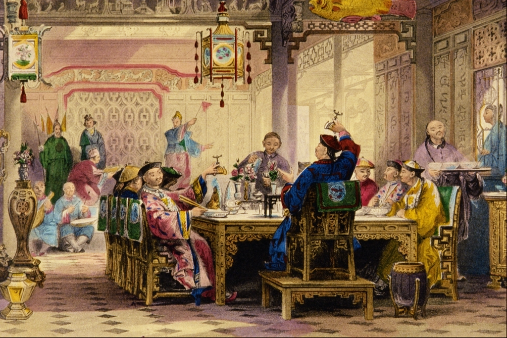 File:Dinner Party at a Mandarin's House - Thomas Allom.png ...