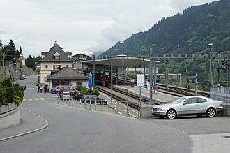 Disentis/Mustér railway station - Image: Disentis railway station, Switzerland