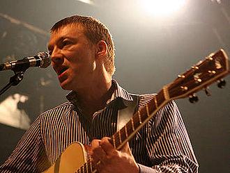Blumfeld - Singer Jochen Distelmeyer performing with Blumfeld in 2007