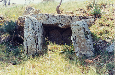 Dolmen of Monte Bubbonia, south Sicily Dolmenmontebubbonia.jpg