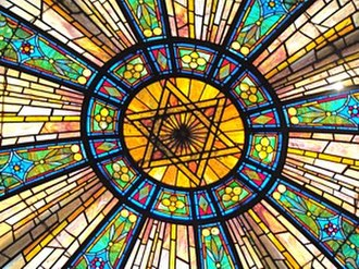 Free Synagogue of Flushing - The dome over the Sanctuary.