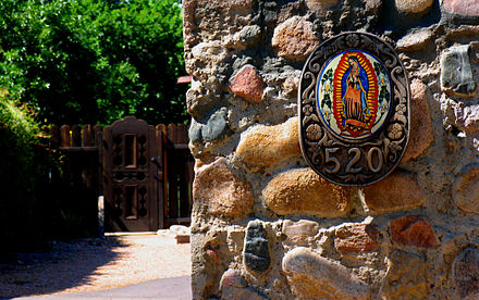 Mexican cultural influence in Santa Fe, New Mexico. Doorway.jpg