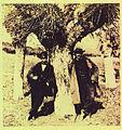 Dos trabajadores -Riancho y Vega - del ferrocarril de Alar del Rey, Palencia a Santander entre 1855 y 1857 - William Atkinson.jpg