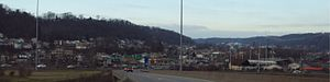 Weirton, West Virginia - Central Weirton from U.S. Highway 22 exit.
