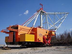 Uralmash - Uralmash-manufactured dragline excavator in the Narva oil shale open pit mine in Estonia.