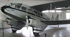 Varig - de Havilland Dragon Rapide PP-VAN exhibited at the MUSAL