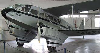 Varig - de Havilland Dragon Rapide PP-VAN exhibited at the MUSAL
