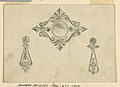"""Drawing, Design for """"Neo-Greek"""" brooch and two earrings, 1850–1900 (CH 18548049).jpg"""