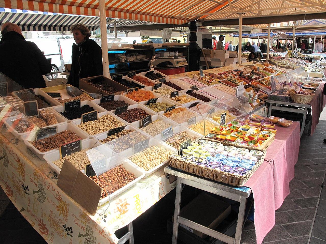 Mercado de Saleya en Niza