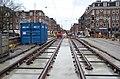 Drierailig tramspoor Rozengracht bij de Nassaukade.jpg