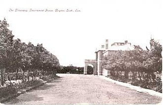 Government House (Saskatchewan) - Government House from Dewdney Avenue in the early 20th century.