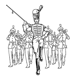 Drum major - drum major (center)